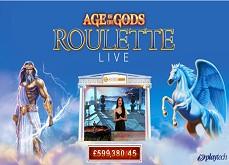 Jackpot progressif remporté sur Age of the Gods Live Roulette pour 599,380.45£