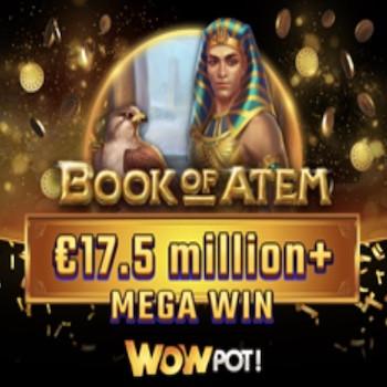 Book of Atem: WowPot : un Britannique remporte 17,5 millions d'euros sur un casino en ligne Microgaming