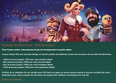 Cresus Casino refait à neuf, découvrez la nouvelle version et goûtez encore au pack de bienvenue !
