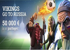 Vikings go to Russia, la promotion Cresus à 50,000€ sur le Mondial 2018