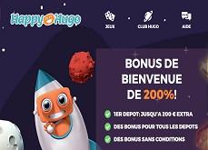 Découvrez le casino en ligne Happy Hugo avec 3€ gratuit