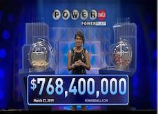Jackpot Powerball ! Un heureux joueur, encore inconnu, a remporté le tirage de 768,4$ millions