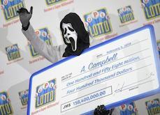 Jamaïque - Un gagnant de jackpot de loterie récupère son prix avec le masque de Scream