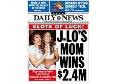 Retour sur une histoire pas banale - la mère de Jennifer Lopez a touché un jackpot de 2.4$ millions aux machines à sous