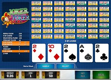 Trois nouveaux jeux de casino gratuits dont un excellent Joker Poker de Play'n'go