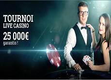 Tournoi Live Casino sur Cresus : 25,000€ à se partager