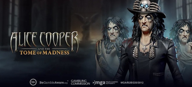 Play'n Go lance sa nouvelle machine à sous Alice Cooper and the Tome of Madness