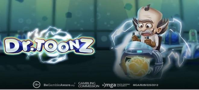 Play'n Go dévoile les origines des Reactoonz dans sa nouvelle machine à sous Dr Toonz