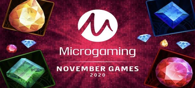 Casinos Microgaming : de nouvelles machines à sous en ligne introduites au mois de novembre