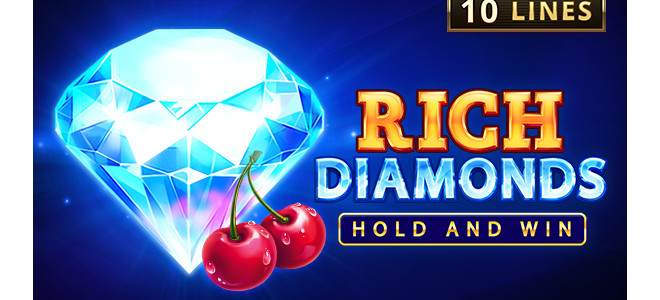 Rich Diamonds: Hold and Win, nouvelle slot en ligne Playson à découvrir avec l'offre CashDays !