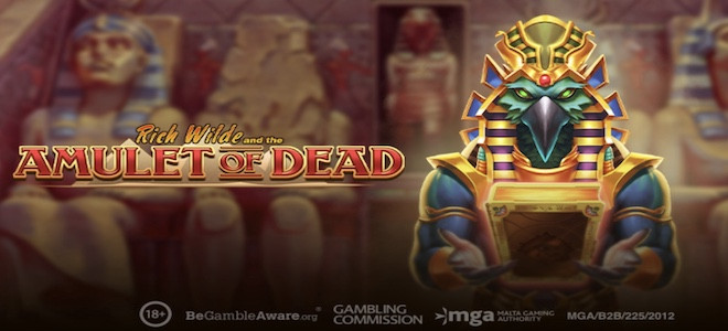 Play'n Go : Rich Wilde fait son retour dans la nouvelle machine à sous The Amulet of Dead
