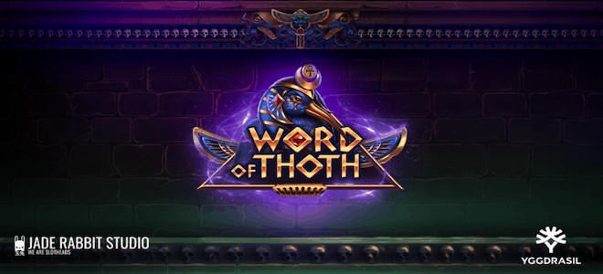 Word of Thoth : Première slot de Jade Rabbit Studio en partenariat avec Yggdrasil