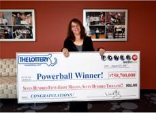 Une Américaine décroche un Powerball record de 758,7$ millions