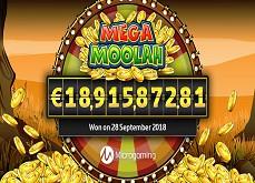Mega Moolah place un nouveau record de jackpot en ligne avec un gain à 18,9€ millions !