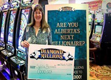 Elle loupe Las Vegas mais ne rate pas le jackpot d'1$ million au Canada