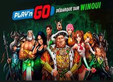 Du nouveau sur WinOui ! Arrivée des jeux Play'n GO et promotion Chasseur de Scatter ce mercredi