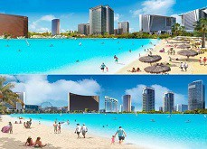 Paradise Park de Wynn Resorts, le projet de lac à Las Vegas avance