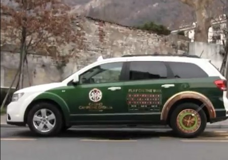 Des taxis équipés d'un jeu de Roulette