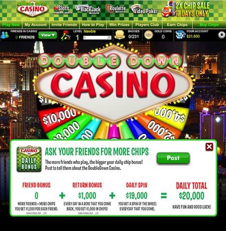 Double Down : Jouer au Casino sur Facebook