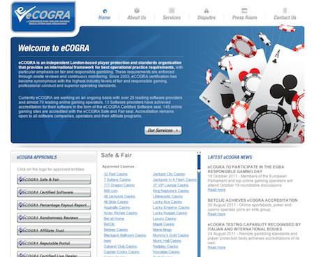 ECOGRA : Accréditation des acteurs du Jeu en ligne