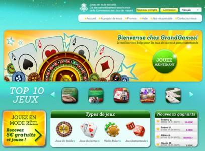 Promotions du casino en ligne GrandGames pour les joueurs belges uniquement