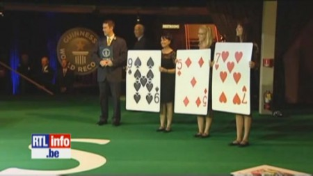 Record du monde de la plus grande table de blackjack