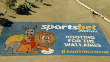 SportsBet propose une façon originale de faire de la publicité - la fresque géante