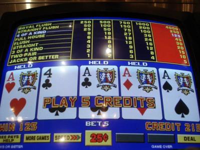 Les machines de vidéo poker actives dans les établissements de l'Illinois
