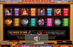 Machine à sous Asian Beauty gratuit dans Microgaming casino