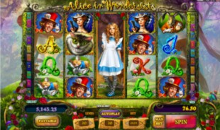 aperçu jeu Alice in Wonderslots 1