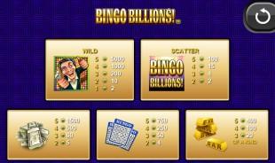 aperçu jeu Bingo Billions 2