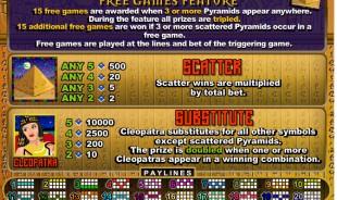aperçu jeu Cleopatra's Gold 2