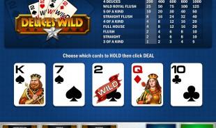 aperçu jeu Deuces Wild MultiHands 1