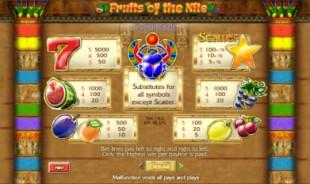 aperçu jeu Fruits of The Nile 2