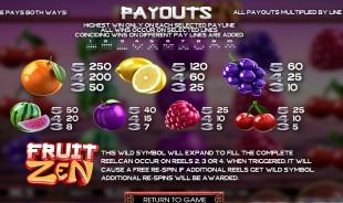 aperçu jeu Fruit Zen 2