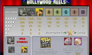 aperçu jeu Hollywood Reels 2