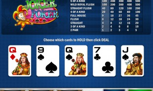 aperçu jeu Joker Poker (Play'n'go) 1