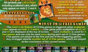 aperçu jeu Lion's Lair 2