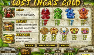 aperçu jeu Lost Inca's Gold 2