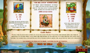 aperçu jeu Lucky Fishing 2
