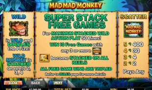 aperçu jeu Mad Mad Monkey 2