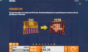 aperçu jeu Phoenix Sun 2