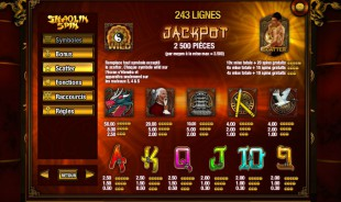 aperçu jeu Shaolin Spin 2