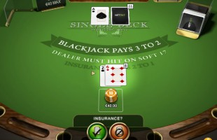 jeu Single Deck Blackjack
