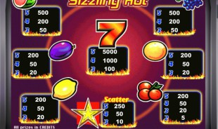 aperçu jeu Sizzling Hot 2