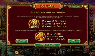 aperçu jeu The Golden Owl of Athena 2