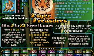 aperçu jeu Tiger Treasures 2