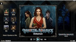 jeu Immortal Romance Scratch