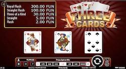 jeu Three Cards