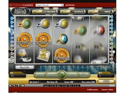 Jackpot de 11 millions d'euros à Mega Fortune